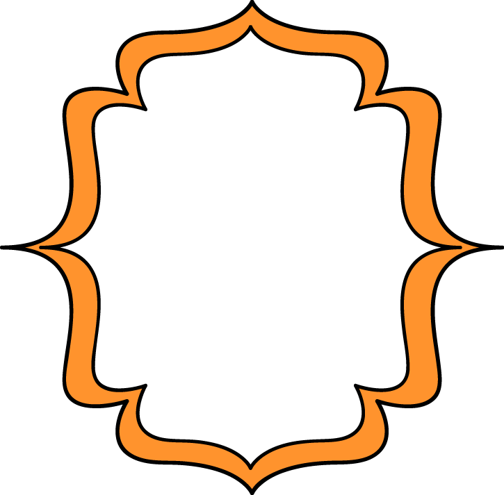 Orange frame clipart