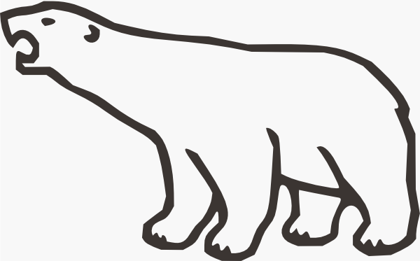 Polar bear clip art black and white free clipart 10
