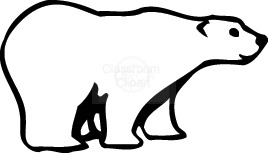 Polar bear clip art black and white free clipart 4