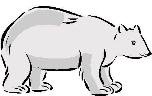 Polar bear clip art for children free clipart images 4