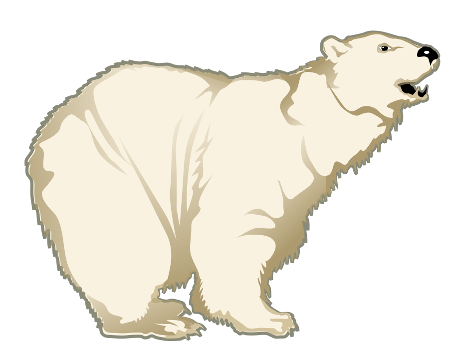 Polar bear free to use clip art 2