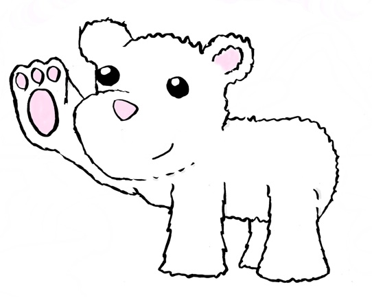 Polar bear on ice clipart clipart kid