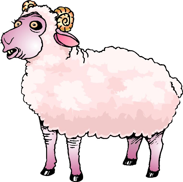 Sheep lamb clipart black and white free clipart images image
