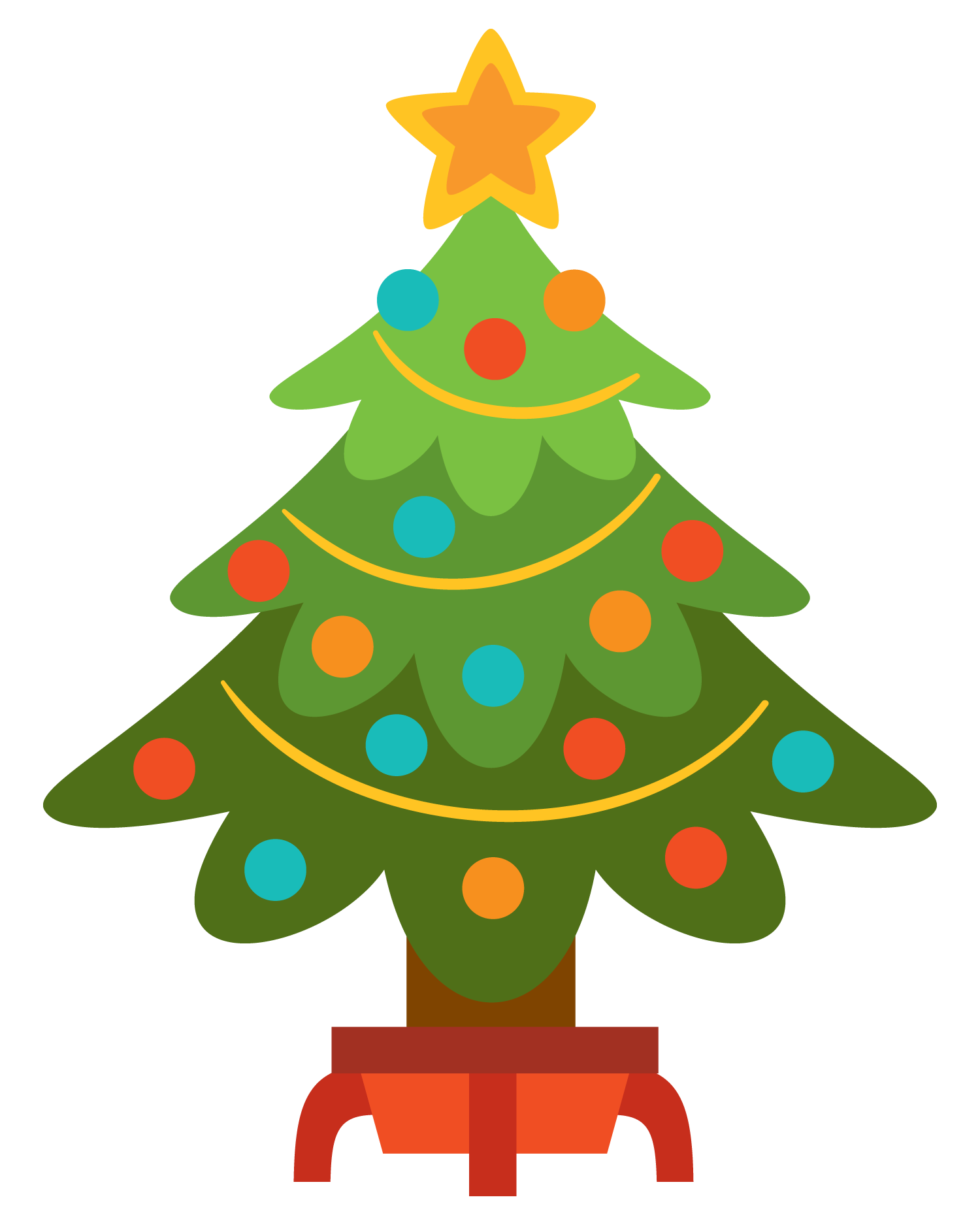 Simple christmas clipart kid