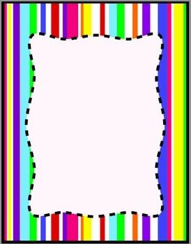 Striped frame clipart