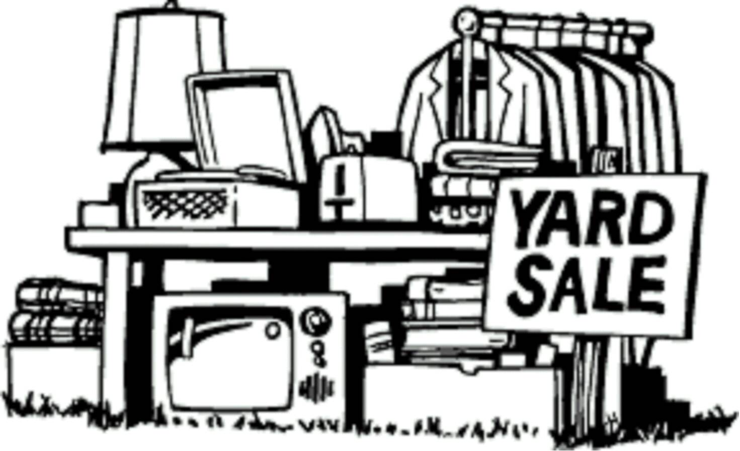 Yard sale flyers clipart clipart kid 2