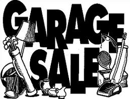 Yard sale free garage sale scene clipart