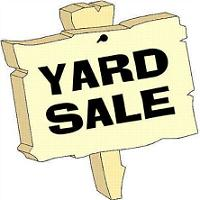 Yard sale free garage sale sign clipart