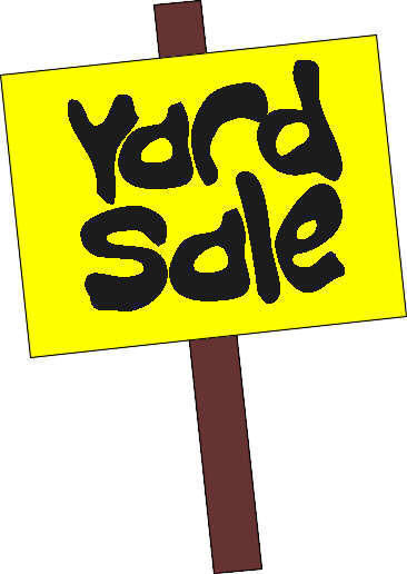 Yard sale signs clipart clipart kid