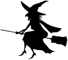 0 ideas about witch silhouette on halloween clip art