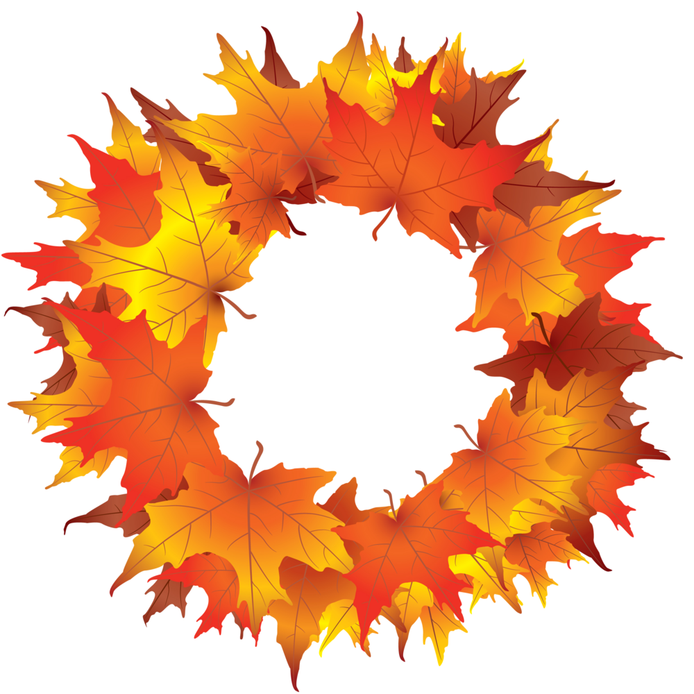 Autumn wreath clipart kid 2
