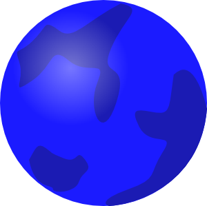 Blue planet clipart