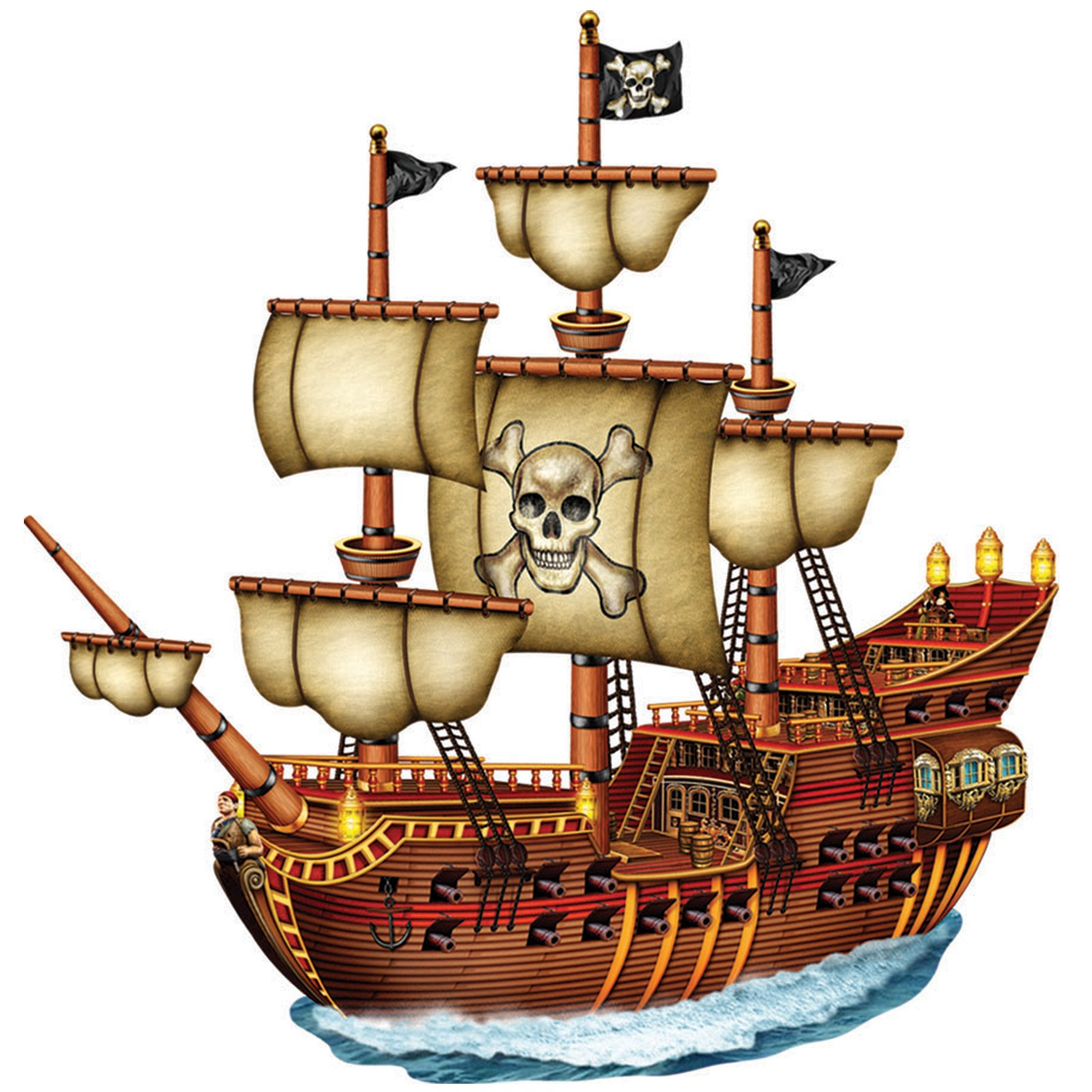 Cartoon pirate ship clipart kid 3