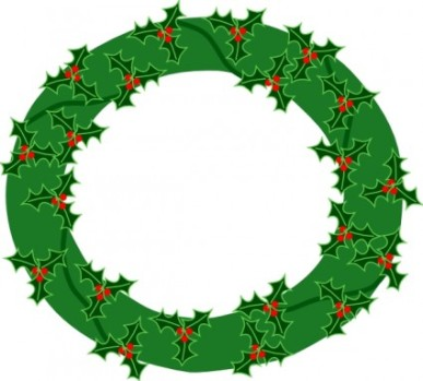 Christmas clip art wreath