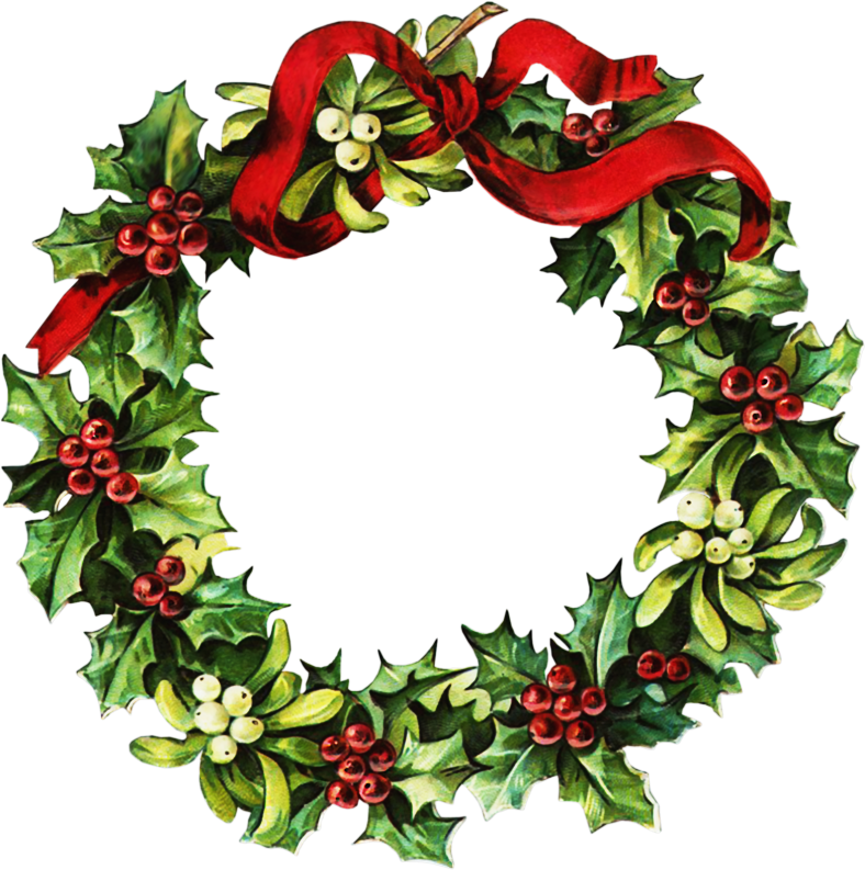 Christmas wreath border clipart kid 4