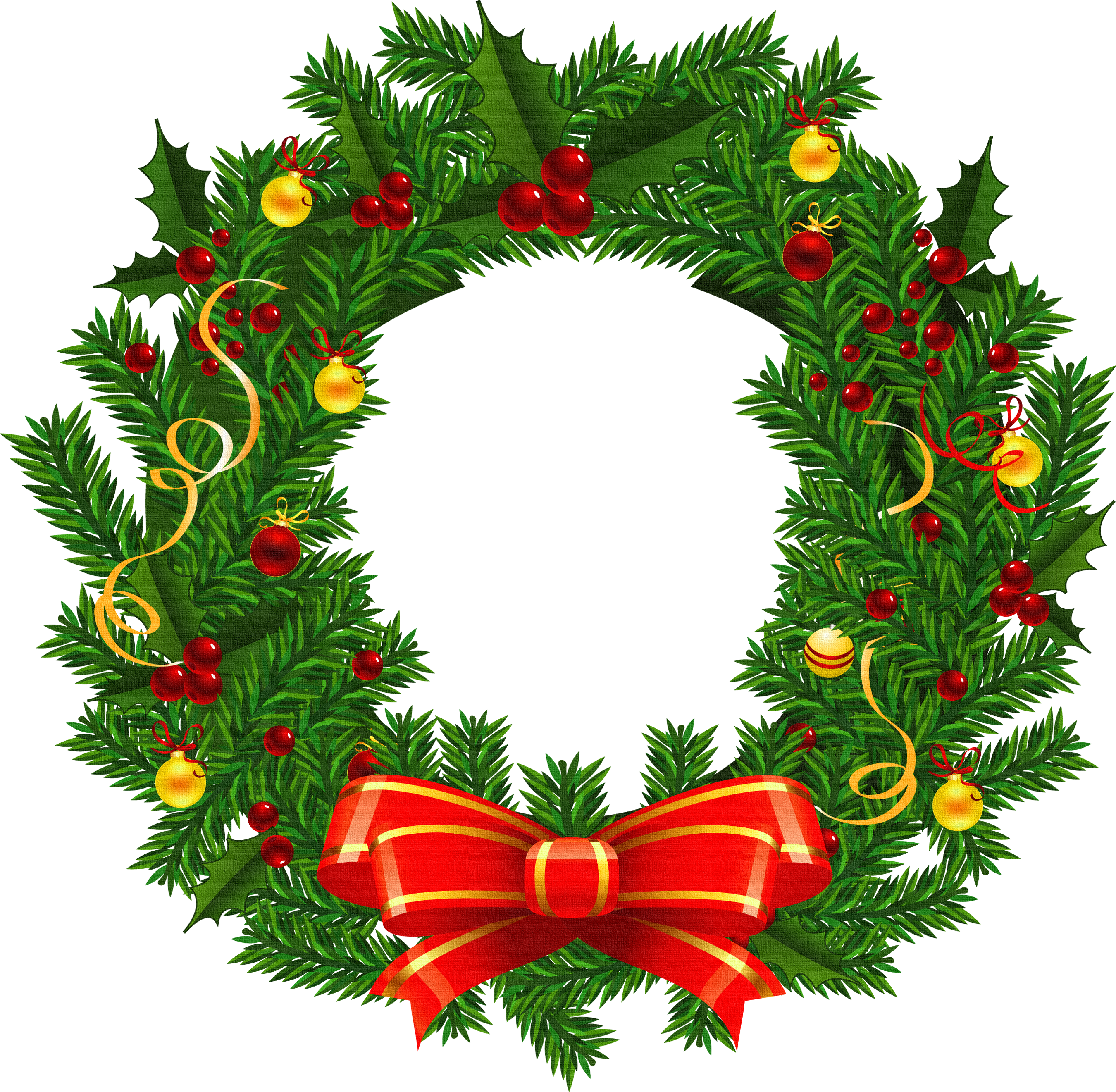 Christmas wreath clipart kid 2