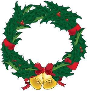 Christmas wreath clipart kid