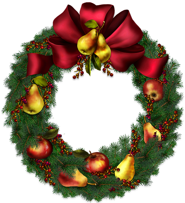 Christmas wreath transparent clipart picture 0