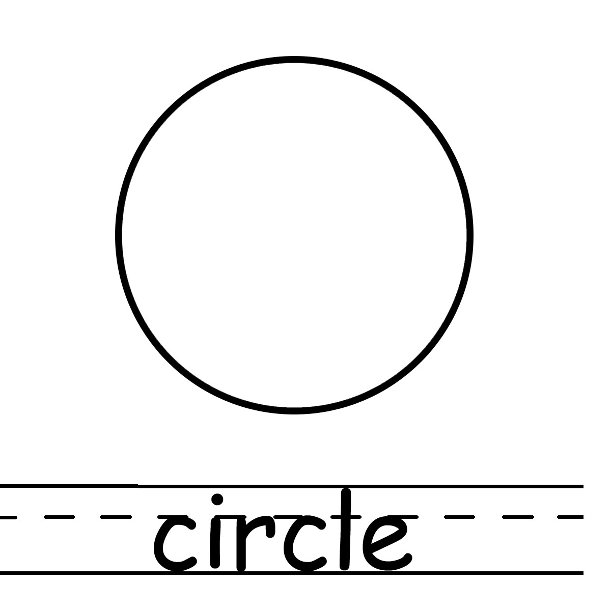 Circle shape clipart kid 2
