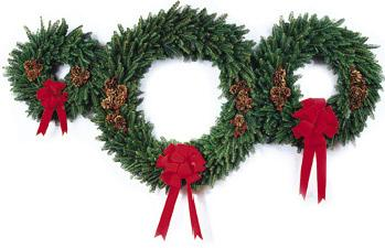 Clipart of christmas wreaths 2