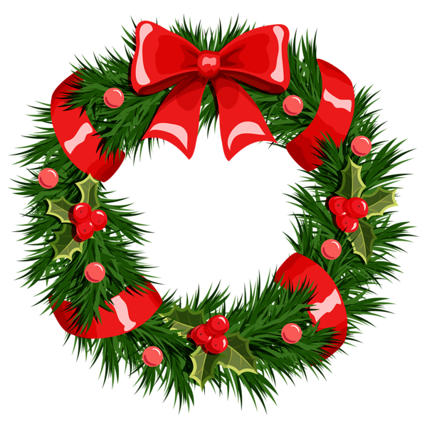 Clipart of christmas wreaths 3 image