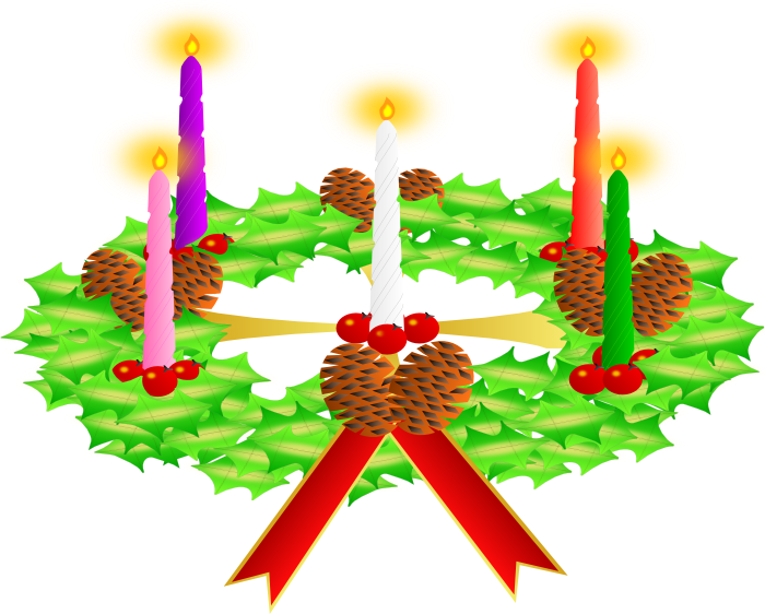 Clipart of christmas wreaths 3