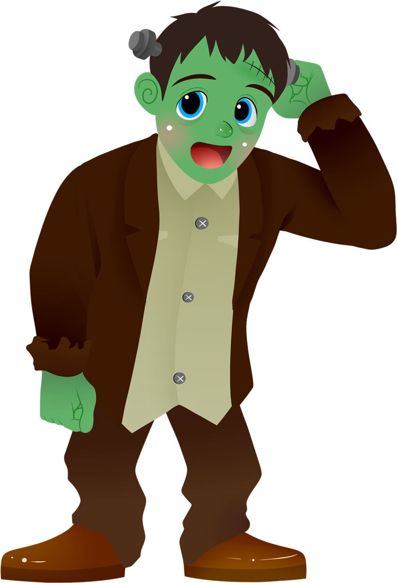 Cute frankenstein clipart clipart