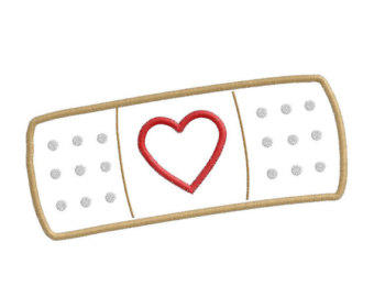 Doc mcstuffins heart band aid clip art bandaid applique