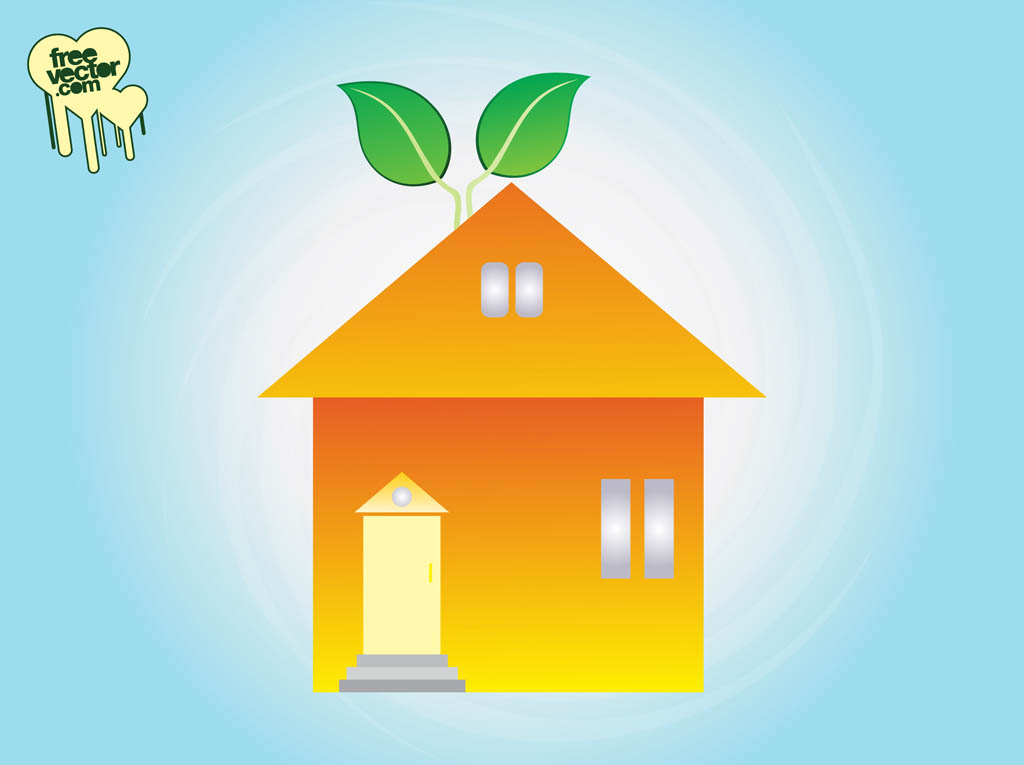 Eco home clip art vector