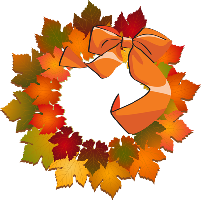 Fall wreath clipart