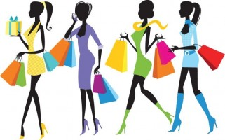 Fashion shopping girls clip art free vector download