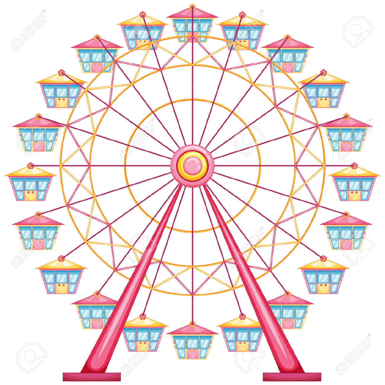 Ferris wheel clipart 2