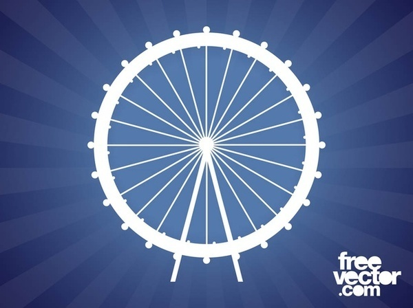 Ferris wheel clipart free vector graphics freevectors