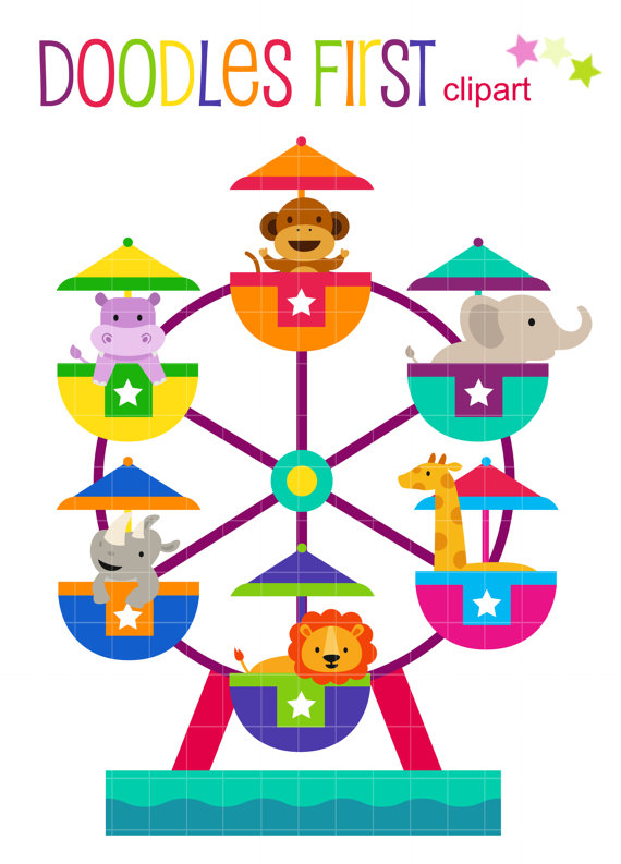 Ferris wheel kids clipart