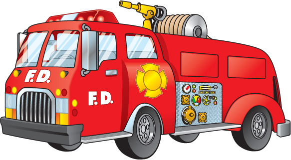 Firetruck red fire truck clipart