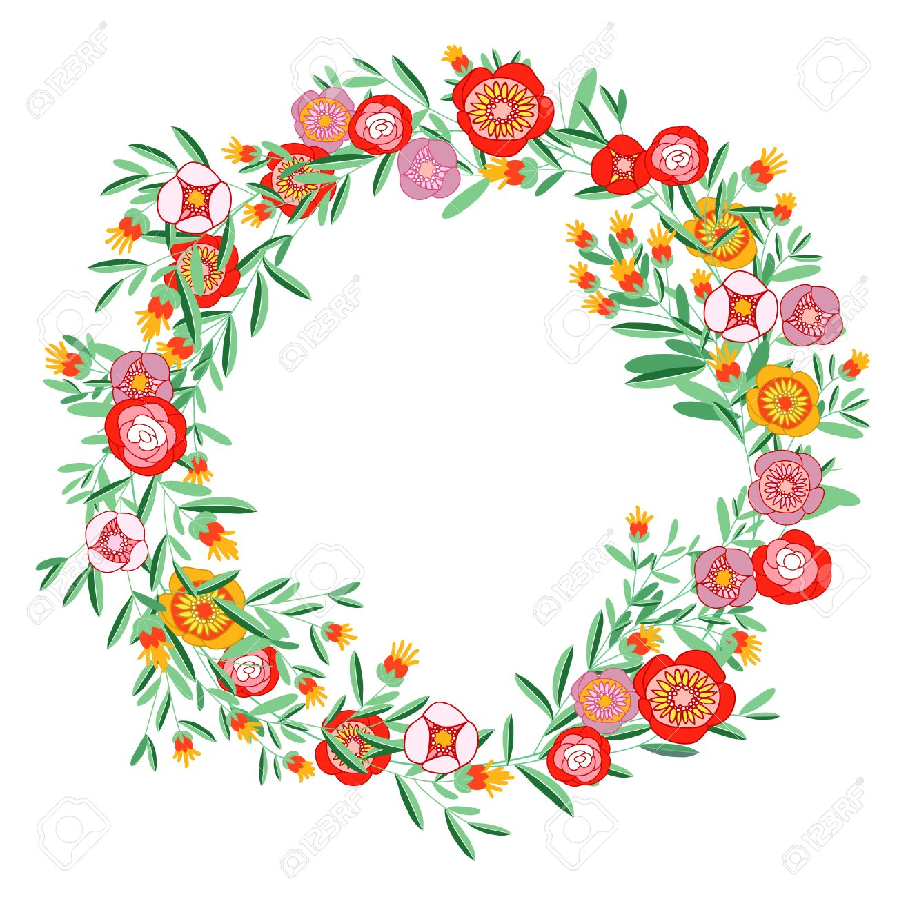 Flower wreath clipart