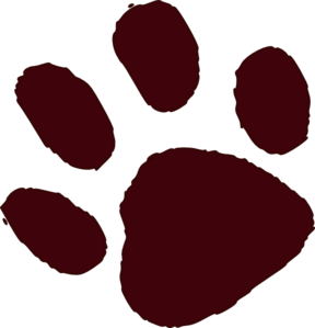 Free animal paw print clipart