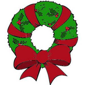 Free christmas wreath clipart kid