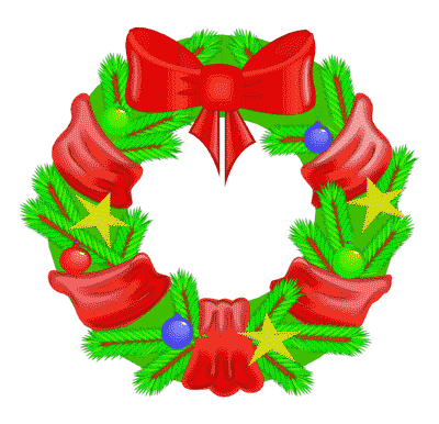 Free christmas wreath clipart public domain clip art 2