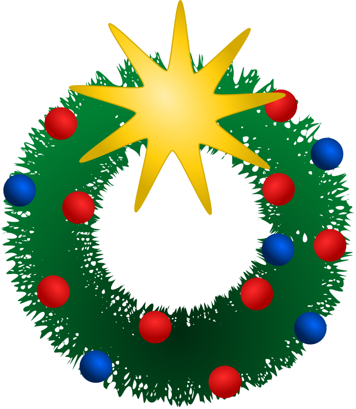 Free christmas wreath clipart public domain clip art 3