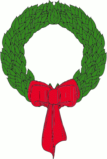 Free christmas wreath clipart public domain clip art 4