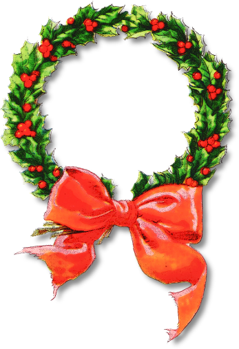 Free christmas wreath clipart public domain clip art 7