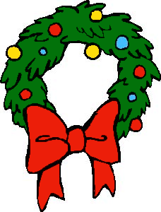 Free christmas wreath clipart public domain clip art
