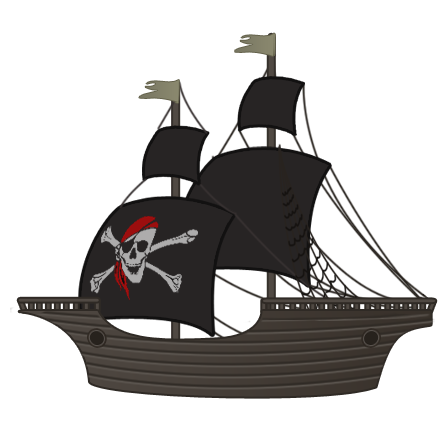 Free dark pirate ship clip art