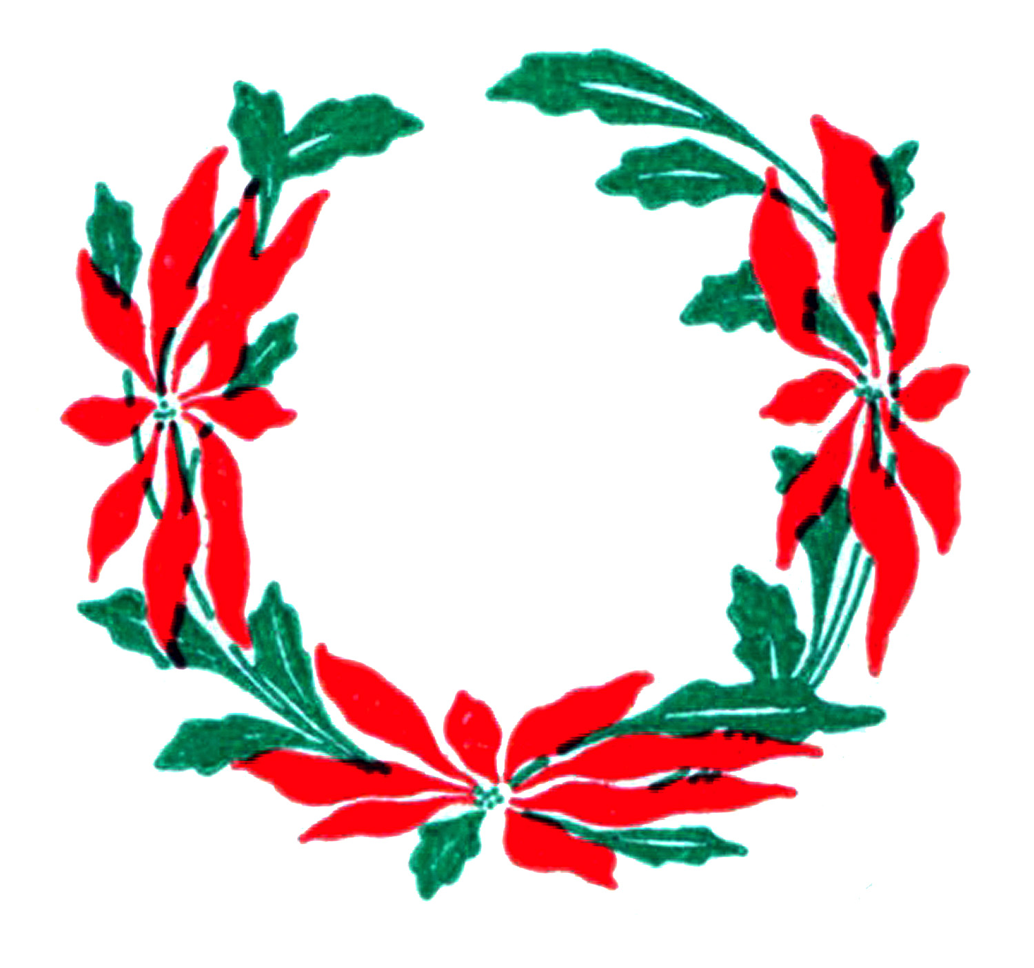 Christmas Wreath Silhouette Vector.Free Vector File And Clip Art Image Vintage Floral Wreath Oh