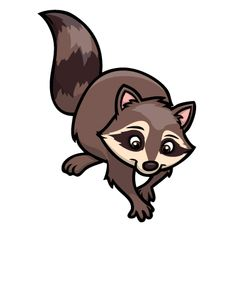 Iconer raccoons clip art and album
