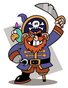 Image cute pirate ship clipart clipartcow clipartix