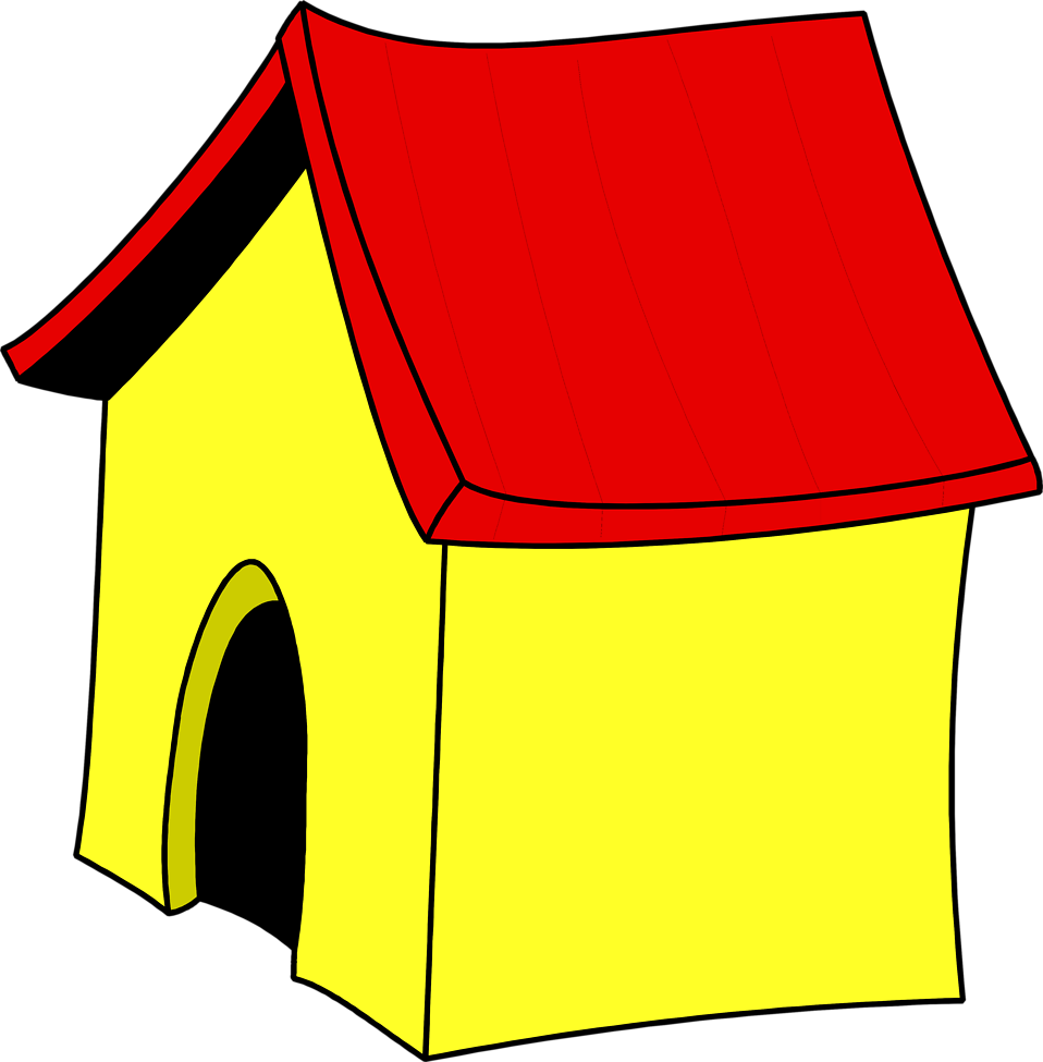 Image of dog house clipart cartoon home alone clip art