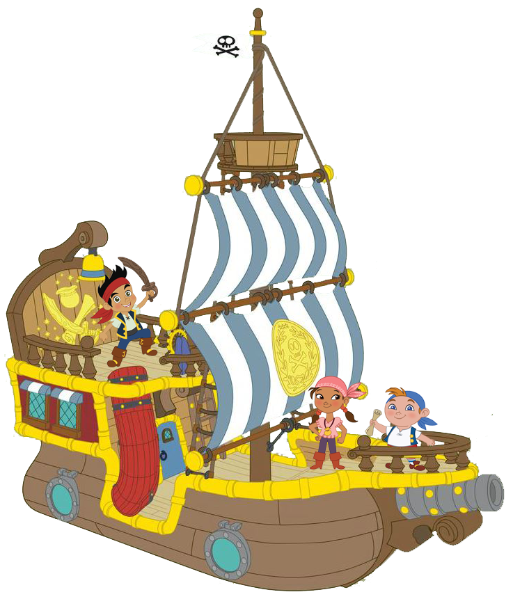 Jake pirate ship clipart