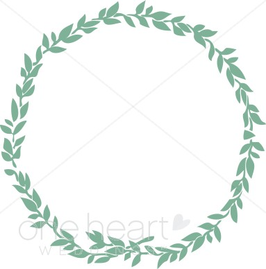 Jewish wreath clipart wedding leaf